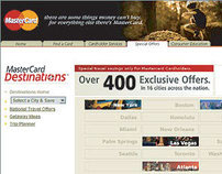 MasterCard Destinations Travel Portal