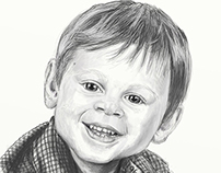 Child portrait, sketch