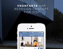 VK.com app concept for iOS7