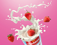 moMilk Wild Strawberries - print advertising