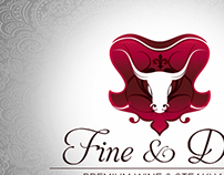 Fine and Dine restourant logo work
