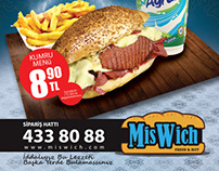 MisWich Menu ve Logo design