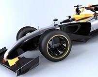 Race Car Concept Without Rims