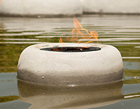 Floaty Concrete Flambeaus