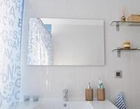 WC Branca e Azul/ White and Blue Bathroom