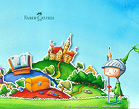 Faber Castell - Product site made out of drawings