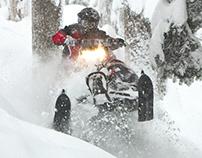 Yamaha Snowmobiles exhibit display