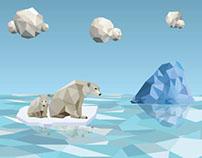 polar bear in low poly