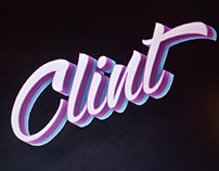 CLINT logo / rockband