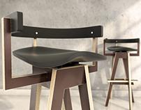 free 3d model / xemei stool chair