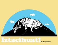 Mexican Volcanoes Izta, Popo & Teuhtli character design
