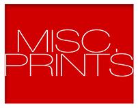 MISC. PRINT DESIGNS