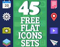 Free Flat Icons: 45 Sets