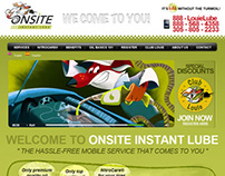 Onsite Insant Lube - Web Design
