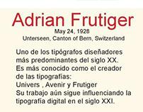 Adrian Frutiger Info