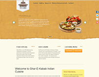 Gharekabab website design
