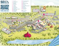 UEA 50th Anniversary Map