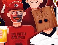 Atlanta Magazine - Falcons Fans vs Saints Fans
