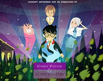 Harry Potter cartoon concept art