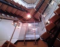 Glass Stair Rail Lake Anna