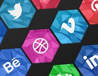 Social Icons 2D & 3D - Free Download!