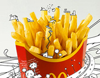 Animation for MacDonald's facebook page in Russia