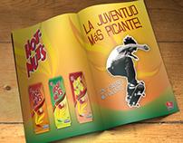 Hot Nuts - Embalagem e anúncio