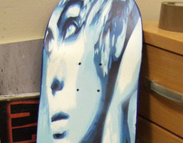 SKATEBOARD ART ORIGINAL SPRAYPAINT CANVAS 4 BEN