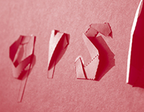 Folded Font Design