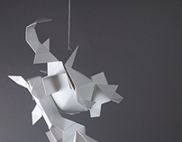 Multi-Plane Paper Sculpture
