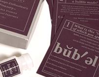 """Seltzer Design """"Bubbles"""" promotional mailer"""