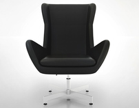 HD 3D BLACK LEATHER CHAIR