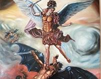 Saint Michael fighting the devil by pallominy 08 2013