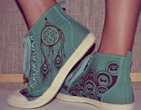 Dreamcatcher and hand-drawn shoes