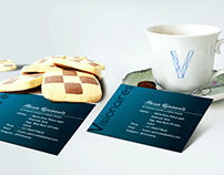 Visionaires business card mockup