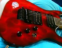 Aerografía en Guitarra eléctrica.
