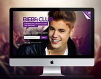 Justin Bieber-Coming Soon Page