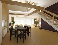 Interior Design of a Cottage for Professors in Skolkovo