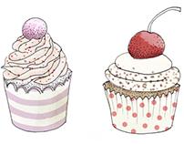 Sweet Cake Drawings
