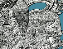 Arctic Monkeys illustration for Rolling Stone Magazine