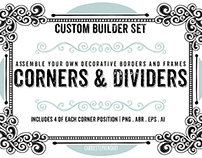 Hand Drawn Corners, Dividers and Border Frames