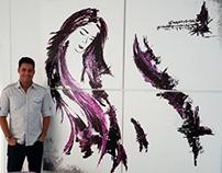 Painting - Woman (Acrilic on canvas 2x2m)