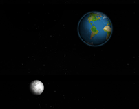 Earth and Moon pure CSS