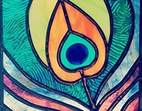 Peacock Feather Stained Glass