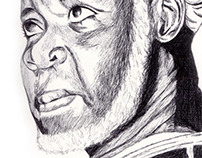 sheikh ibrahim nyass Biro Pen Drawing