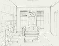 Interior Design Concept Sketches