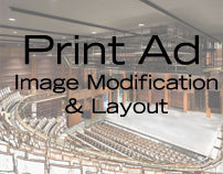 Print Ad - Image Modification & Layout