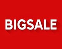 LOGO Campaign Big Sale Flat design