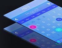 ios7 Concept Calender Design