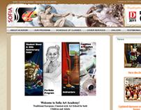 Sofia Art Academy Website and Blog